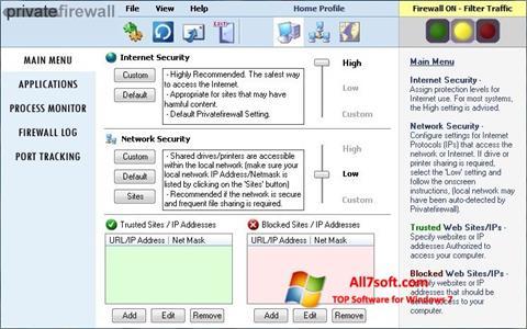צילום מסך Privatefirewall Windows 7