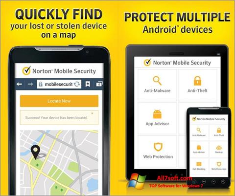 צילום מסך Norton Mobile Security Windows 7