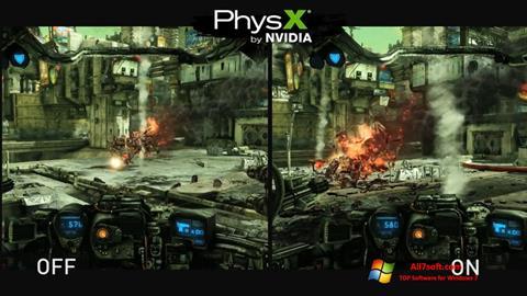 צילום מסך NVIDIA PhysX Windows 7