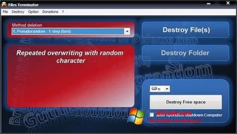 צילום מסך Files Terminator Windows 7