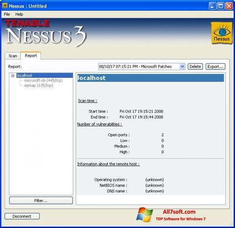 צילום מסך Nessus Windows 7