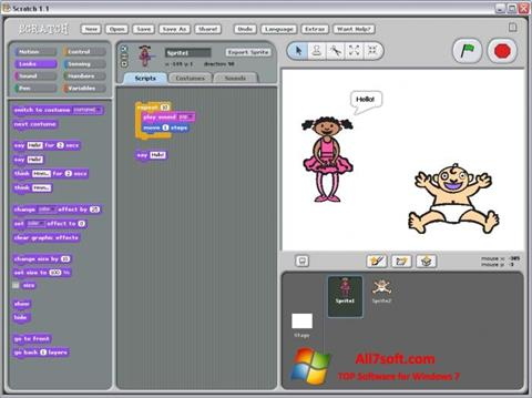 צילום מסך Scratch Windows 7