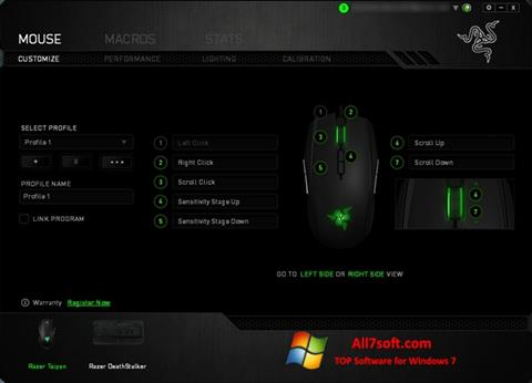 צילום מסך Razer Synapse Windows 7