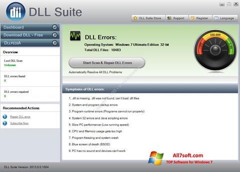 צילום מסך DLL Suite Windows 7