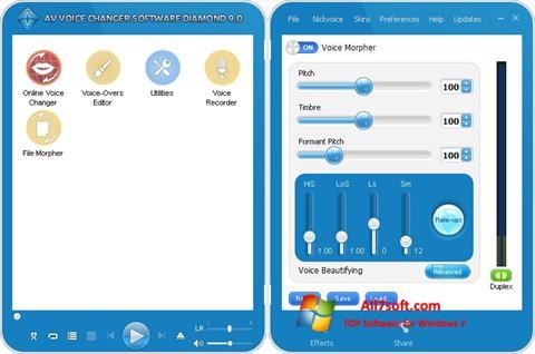 צילום מסך AV Voice Changer Diamond Windows 7