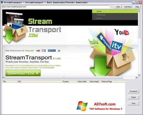 צילום מסך StreamTransport Windows 7