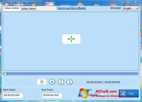 צילום מסך Free Video Cutter Windows 7