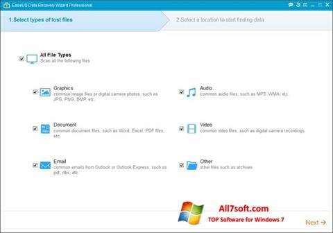 צילום מסך EaseUS Data Recovery Wizard Windows 7