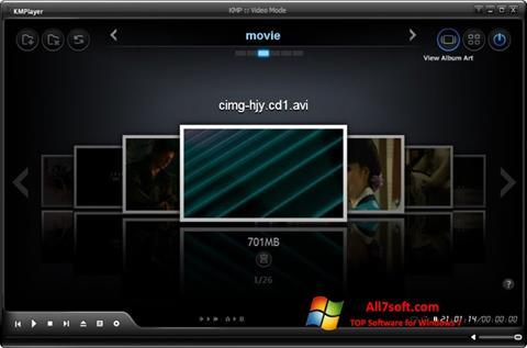 צילום מסך KMPlayer Windows 7